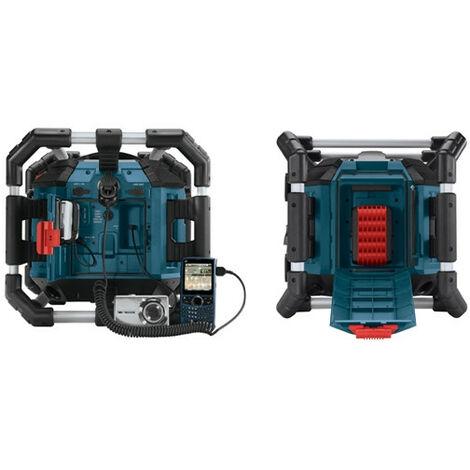 Bosch GML 20 PowerBox 360 14,4V-18V batería Li-Ion Radio de obra - batería y toma de corriente