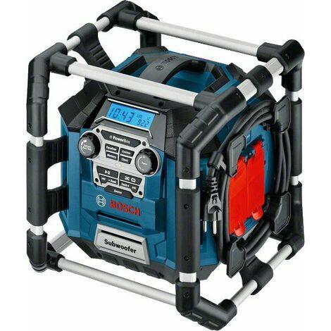 Bosch GML 20 PowerBox 360 - Radio de chantier 14,4-18V Li-Ion - Sur secteur ou sur batterie