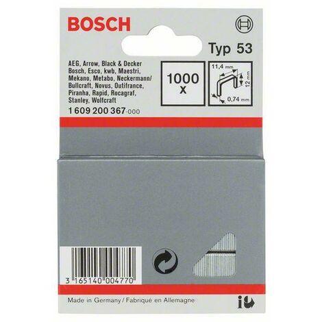 Bosch Graffetta a filo fine tipo 53, 11,4 x 0,74 x 12 mm, 1000er-Pack - 1609200367