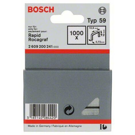 Bosch Graffetta a filo fine tipo 59, 10,6 x 0,72 x 10 mm, 1000 pezzi