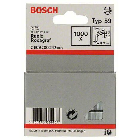 Bosch Graffetta a filo fine tipo 59, 10,6 x 0,72 x 12 mm, 1000 pezzi