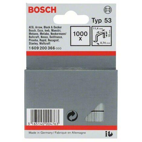 Bosch Graffette a filo fine tipo 53, 11,4 x 0,74 x 10 mm, 1000 pezzi