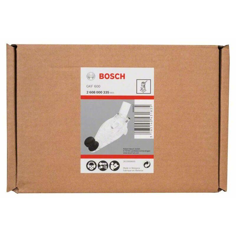 Bosch 2608000335 Grundplatte mit Handgriff und Absaugstutzen  GKF 600 Zubehör