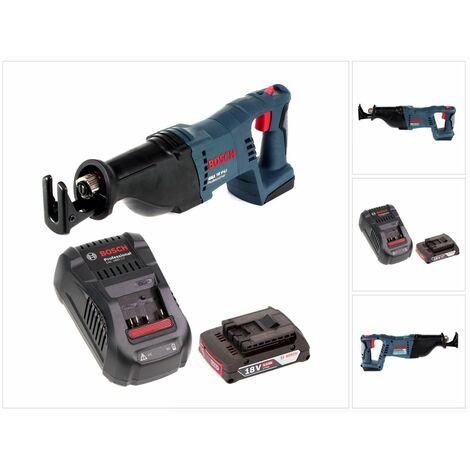 Bosch GSA 18 V-Li Scie sabre sans fil 18V + 1 x Batterie 2,0Ah + Chargeur