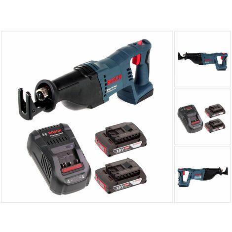 Bosch GSA 18 V-Li Scie sabre sans fil 18V + 2 x Batteries 2,0Ah + Chargeur