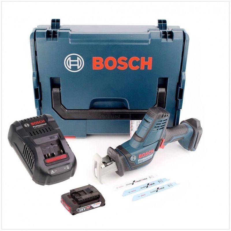 Bosch GSA 18 V-LI C Professional Akku S/äbels/äge in L-Boxx mit Ladeger/ät GAL 1880 und 1x GBA 2 Ah Akku