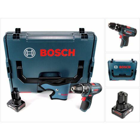 Bosch GSB 12V-15 Professional Perceuse-visseuse à percussion sans fil + Coffret L-Boxx + 1x Batterie GBA 12 V 4,0 Ah - sans Chargeur