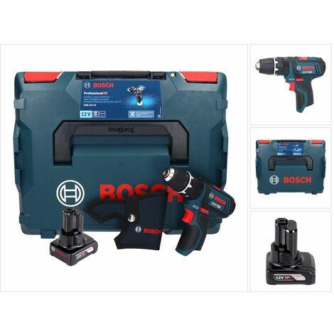 Bosch GSB 12V-15 Professional Taladro atornillador de percusión a batería en L-Boxx + 1x Batería GBA 12 V 6,0 Ah