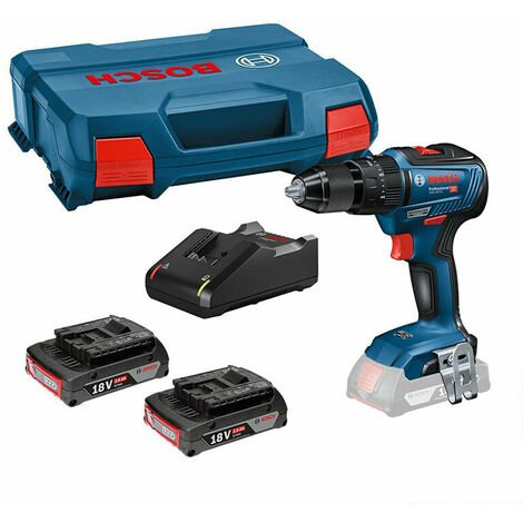 Bosch GSB 18 V-55 Brushless Cordless Combi Drill with 2x 2.0Ah Batteries