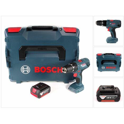 Bosch GSB 18V-21 Professional Taladro atornillador percutor a batería 18V / 55Nm en L-Boxx + 1x Batería GBA 3,0 Ah - Sin cargador incluido