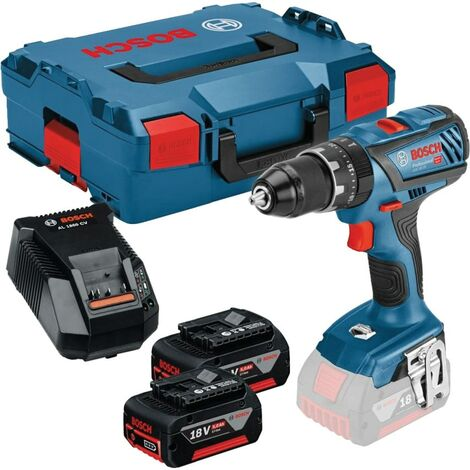 Bosch GSB 18V-28 Combi Drill, 2x 5.0Ah Battery Packs, Charger & L-BOXX