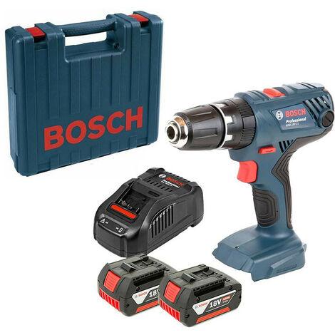 Bosch GSB18V-21 18v Cordless Combi Drill Kit 2 x 2Ah Batteries