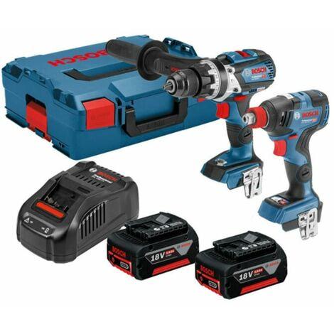 Bosch GSB18V-85C Combi Drill + GDX18V-200C Impact Driver/Wrench Kit