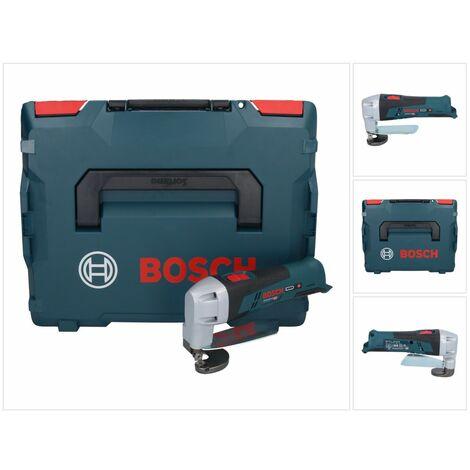 Bosch GSC 12V-13 Cisaille à tôle sans fil 12V + Coffret de transport L-BOXX ( 060192610A ) - sans Batterie, sans Chargeur