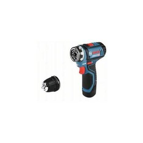 Bosch GSR 12V-15 FC 12V Juego de taladro / destornillador inalámbrico de ion de litio (2x 2.0Ah sin cable) en L-Boxx