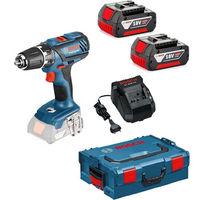 Bosch GSR 18-2-LI Plus Perceuse visseuse à batteries 18V Li-Ion (2x batterie 4.0Ah) dans L-Boxx - 63 / 24Nm