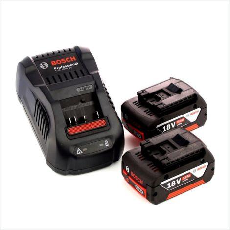 Bosch GSR 18 V-85 C Professional Li-Ion Brushless Perceuse-visseuse sans fil avec boîtier L-Boxx + 2x Batteries GBA 18 V 5,0 Ah + Chargeur GAL 1880 CV
