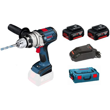 Bosch GSR 18 VE 2 LI Perceuse visseuse à batteries 18V Li Ion (3x batterie 5.0Ah) dans L Boxx