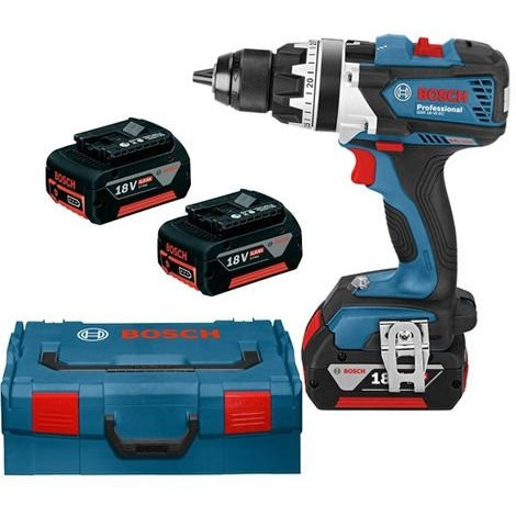 Bosch GSR 18 VE-EC Perceuse visseuse à batteries 18V Li-Ion (3x batterie 5,0Ah) dans L-Boxx - 75Nm