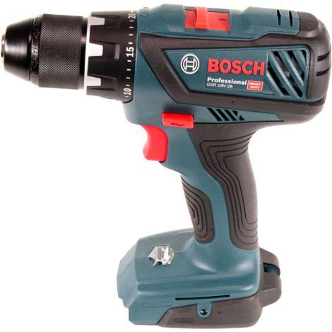 Bosch GSR 18V-28 Perceuse-visseuse sans fil 18 V 63 Nm + 2x Batteries 2,0 Ah + Chargeur