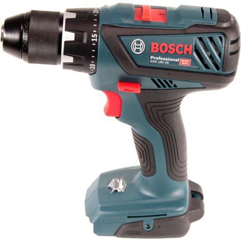 Bosch GSR 18V-28 Professional Taladro atornillador a batería 18V + 2x Batería GBA 18V 2,0 Ah + Cargador GAL 1880 CV - Sin maletín incluido