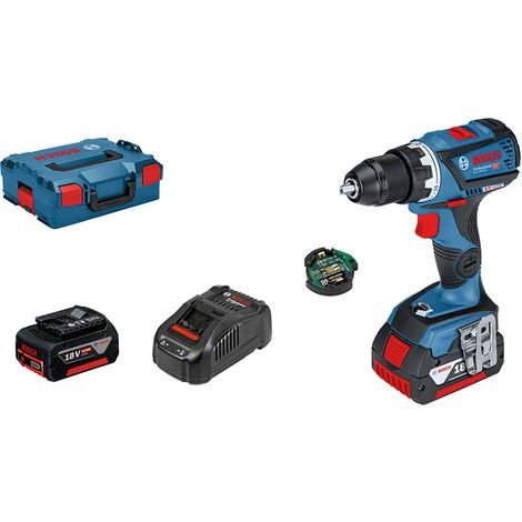 Bosch GSR 18V-60 C Perceuse-visseuse sans fil Module Bluetooth 2 batteries 5 Ah - 06019G1101