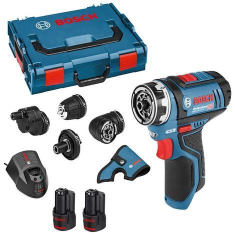 Bosch GSR12V-15 12v 2 x 2.0ah Li-ion FlexiClick Drill Driver Drill Set