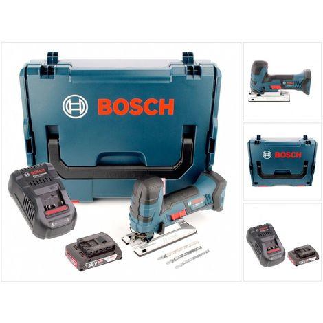 Bosch GST 18 V-Li S Professional Scie sauteuse sans fil + Boîtier L-Boxx + 1x Batterie GBA 2 Ah + Chargeur GAL 1880 + Set d'accessoires