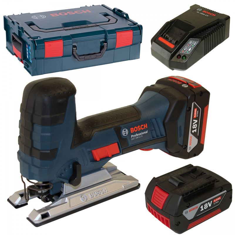 Bosch Scie Sauteuse à Batterie Gst 12V-70,Avec 2 x 3,0 Ah LI-ION Batterie,L-BOXX