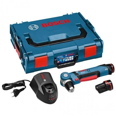 Bosch GWB 10,8-LI 10.8V Li-Ion taladro angular a batería set (2 baterías de 2.0Ah) en maletín L-Boxx
