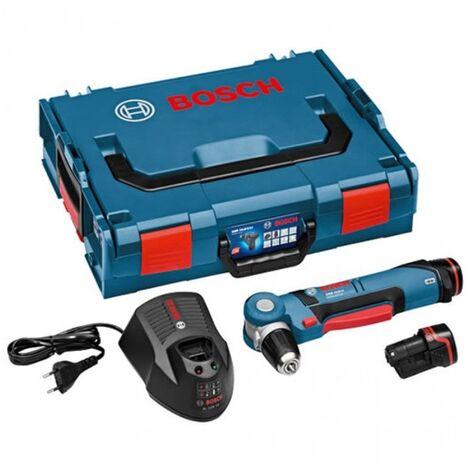 Bosch GWB 10,8-Li Perceuse visseuse d'angle à batteries 18V Li-Ion set (2x batterie 2.0Ah) in L-Boxx