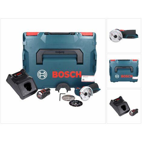 Bosch GWS 12V-76 Professional Meuleuse angulaire sans fil avec boîtier L-Boxx + 1x Batterie GBA 3,0 Ah + 1x Chargeur GAL 1230