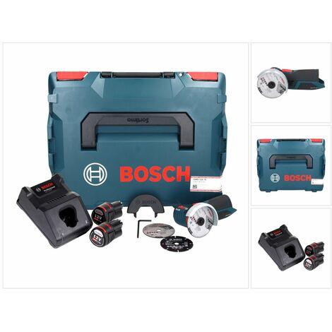 Bosch GWS 12V-76 Professional Meuleuse angulaire sans fil avec boîtier L-Boxx + 2x Batteries GBA 3,0 Ah + 1x Chargeur GAL 1230