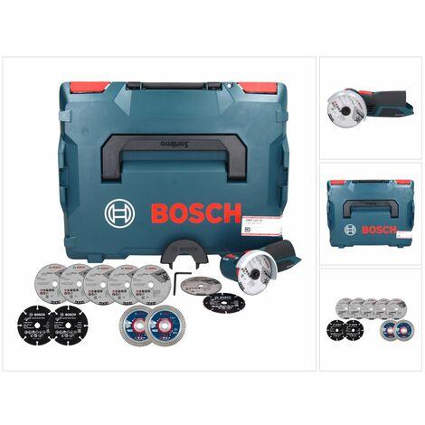 Bosch GWS 12V-76 V-EC Professional Meuleuse angulaire sans fil avec boîtier L-Boxx avec les disques de coupe supplémentaires