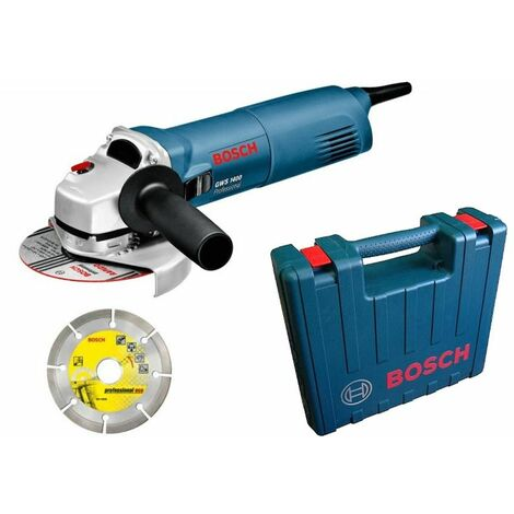 Bosch GWS 1400 Amoladora angular incl. disco de diamante en maletín - 1400W - 125mm
