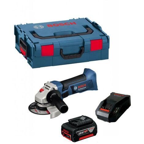 Bosch GWS 18VLI 18v 115mm Angle Grinder Lithium-Ion + 5.0ah Battery + LBOXX