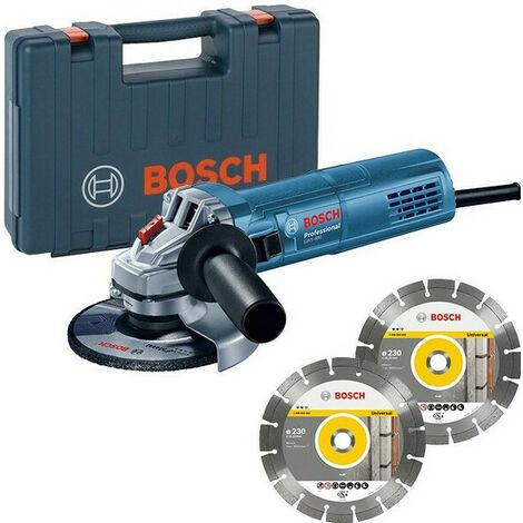 Bosch GWS 880 - Meuleuse angulaire - 2 disques diamantés et coffret - 880W - 125mm