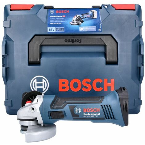 Bosch GWS18-125V-LI 18V li-ion Cordless Angle Grinder 125mm in L-Boxx 060193A308