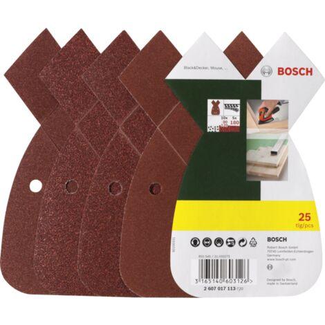 Bosch Heimwerken & Garten Schleifblatt-Set für B&D Mouse, 25-teilig, P80 / 120 / 180