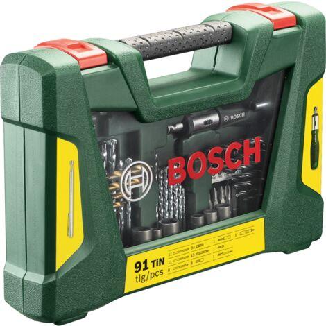 Bosch Heimwerken & Garten V-Line TiN-Bohrer- und Bit-Set, 91-teilig , Bohrer- & Bit-Satz, grün