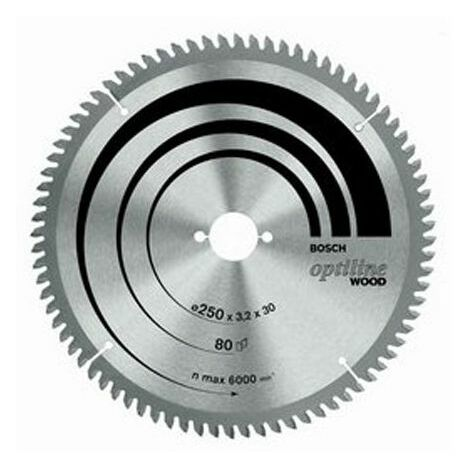 Bosch - Hoja de sierra circular Optiline Madera Ø 305mm 80 dientes de diámetro 30mm