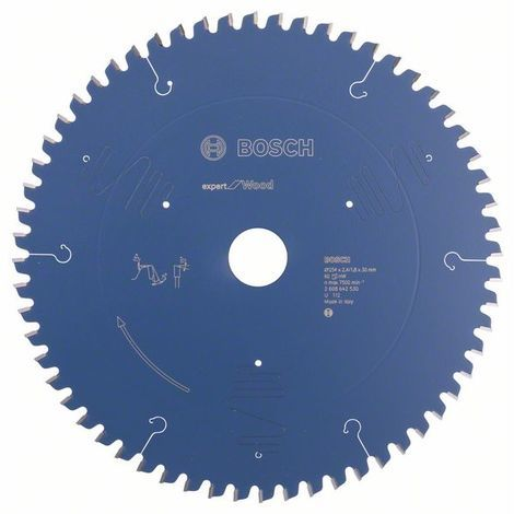 BOSCH - Hoja sierra circular Expert for Wood 254 x 30 x 2,4 mm 60