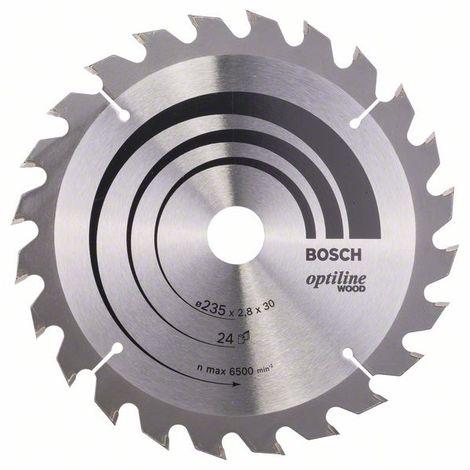 BOSCH - Hoja sierra circular Optiline Wood 235 x 30/25 x 2,8 mm 24
