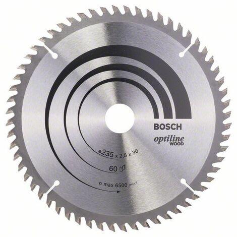 BOSCH - Hoja sierra circular Optiline Wood 235 x 30/25 x 2,8 mm 60
