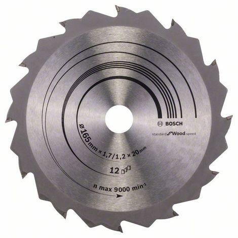 BOSCH-Hoja sierra circular Speedline Wood 165 x 20/16 x 1,7 mm 12