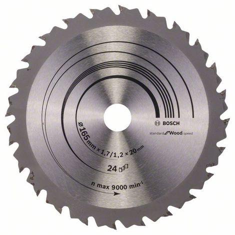 BOSCH-Hoja sierra circular Speedline Wood 165 x 20/16 x 1,7 mm 24