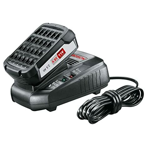Bosch Home and Garden 1.600.A00.K1P Starter Set con batería, 2.5Ah y cargador rápido, 18 W, 18 V, 2 Piezas