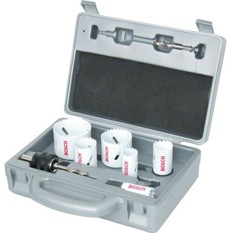 Bosch HSS-Co Progressor Holesaw Kit 9 Piece in Mouled Plastic Case - 2 608 584 6