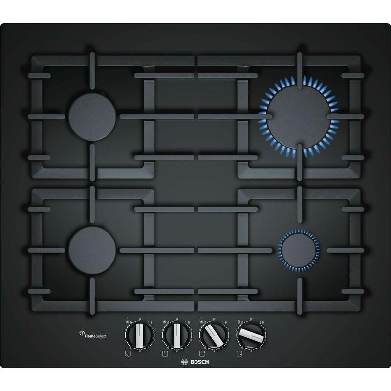 Bosch intégré cuisinière à gaz de 60 cm plaque vitro autosuffisantes noir