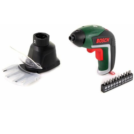 Bosch IXO V 3,6 V Visseuse sans fil pour jardin ( 06039A800A ) + Cisaille à gazon + Cisaille à arbuste + Batterie + Câble de charge